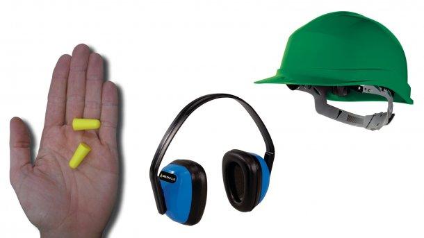 I tappi per le orecchie possono ridurre l'esposizione al rumore se usati correttamente. Le cuffie anti-rumore possono essere uguali o più efficaci, anche se sono più scomode da indossare con un cappello o un casco.
