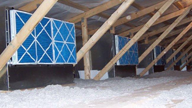 Filtri d'aria in una scrofaia