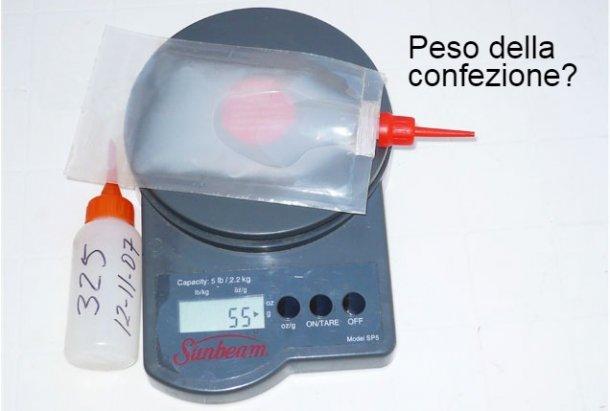 Foto 2.Peso delle dosi problema