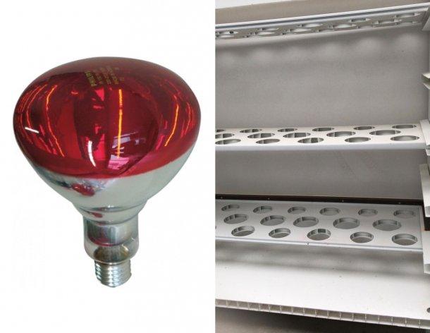 Foto 3: Sinistra: le lampade ad infrarossi costano circa 9 euro/ lampada(https://www.3tre3.it/articoli/carretto-per-asciugare-e-tenere-le-lampade_8913/). Destra: Altro disegno del carrettino, questo a 3 piani.
