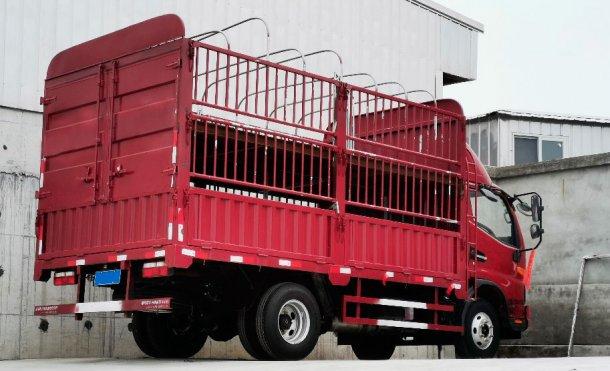 Camion per spostamento di un numero ridotto di suini. Cortesia diDanAg Group, Cina.