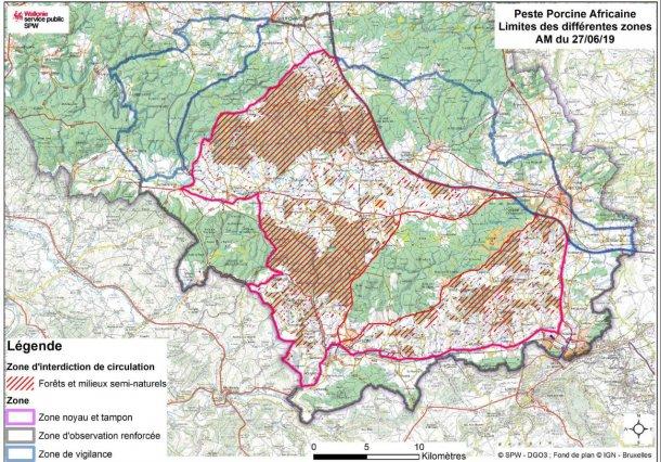 Mappa dei limiti delle zone di interdizione alla circolazione al 1°luglio 2019